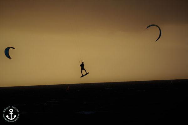 Kitesurfen an der Seebrücke