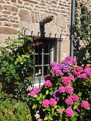 Détail entrée Le jardin de Dragey - Juillet 2017 -