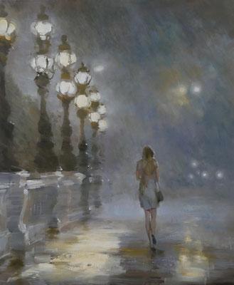 """Nuit Paris"" 60x50, Öl auf Leinwand"