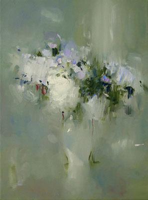 Abstrakte Blumenstrauß 40 x 30 x 2, Öl auf Leinwand