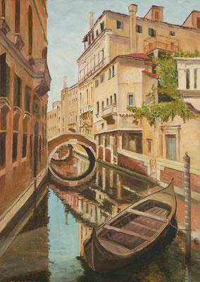 """Kanäle von Venedig"" 70x50, Öl auf Leinwand"