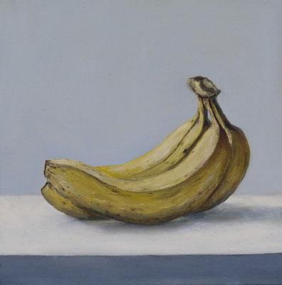 """Bananen"" 30x30, Öl auf Leinwand"