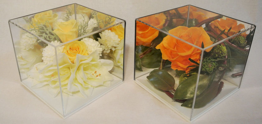 23-1.romantic yellowbox ¥4.800     23-2.orange of wild ¥4.800 (H:13㎝  W:13㎝ D:13㎝)