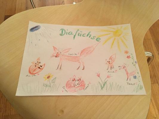 Erstes Treffen der Diafüchse
