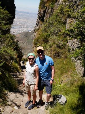 nach dem Aufstieg zum Table Mountain