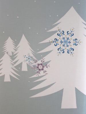 名古屋帯 冬景色