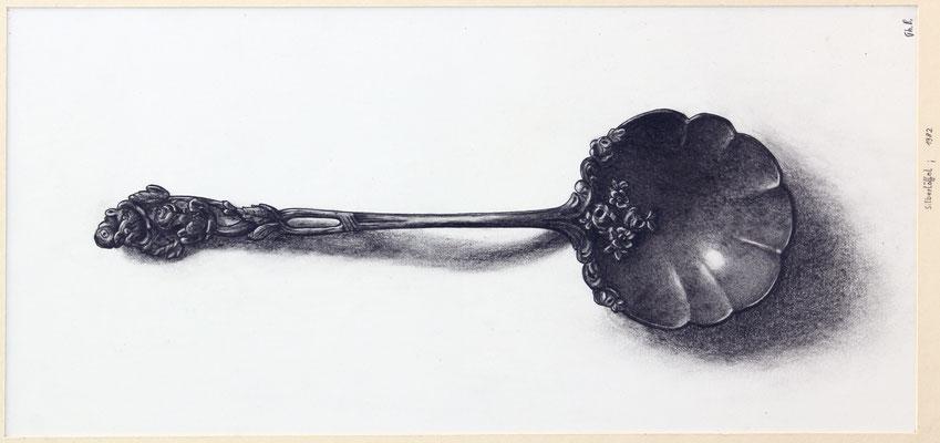 Bleistiftzeichnung / Löffel aus Silber / 1982