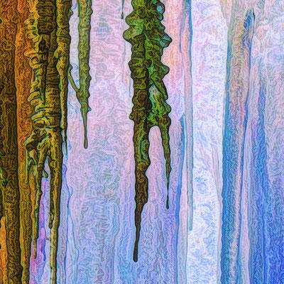 Bildausschnitt: HÖLLEN-HIMMEL / bernstein-blau