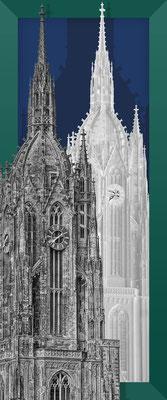 Dom 08 grün+sw+sw / 2018 / UNIKAT / 11.200 x 4.700 pix