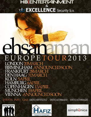 Ehsan Aman Europe Tour 2013