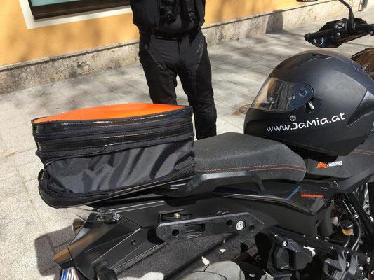 Motorradtasche höhenverstellbar Sonderanfertigung