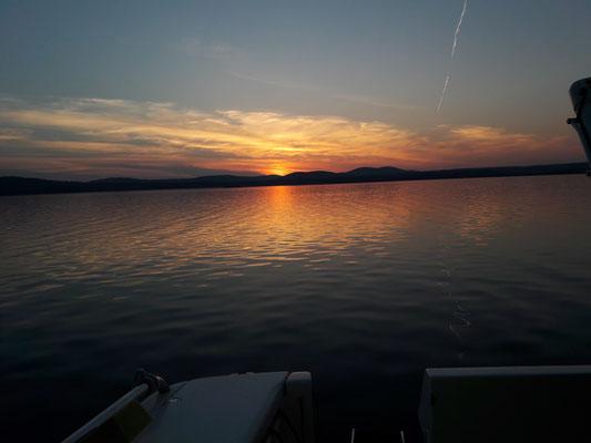 Anbendstimmung mit Sonnenuntergang