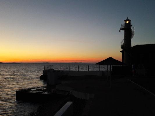 Der Leuchtturm bei Zadar in der Abendstimmung