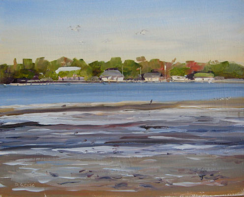 Gulfport Cottages - Bermuda Bay Resort, St.Petersburg, FLA  -   10x8 oil - unframed  -     125.