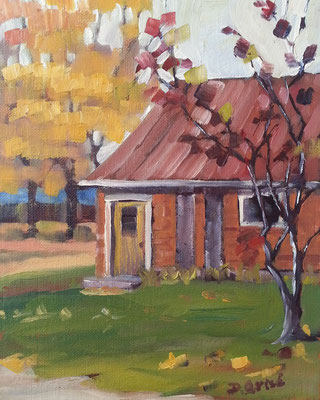 The Studio - Double Door Gallery & Studios, Anten Mills  -   8x10 oil     -    Currently showing at Orillia Museum of Art & History
