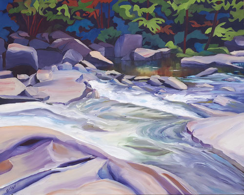 McCrae Rapids  30x24 oil on gallery canvas    1100. CA    To purchase or view, please contact me.