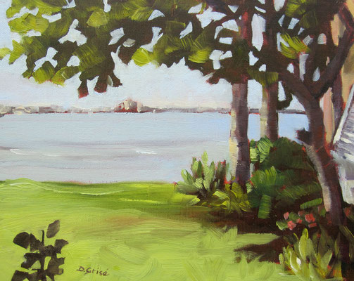 Bermuda Bay View (of Don Cesar on St. Pete Beach)  -   10x8 oil - unframed  -     125.