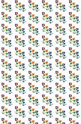 Pansies - 100% linen