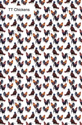 Tea Towel - Chickens    TT Chickens