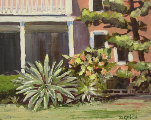 Spring Blooms -    Bermuda Bay Resort, St.Petersburg, FLA   -  10x8 oil - unframed  -     125.