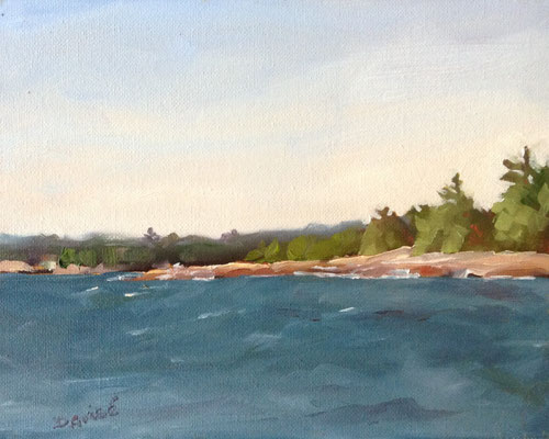 View From Killarney Lighthouse  -   10x8 oil - unframed  -      125.