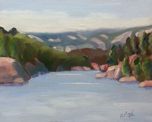 George Lake Afternoon - Killarney   -  8x10 oil - unframed - 125.