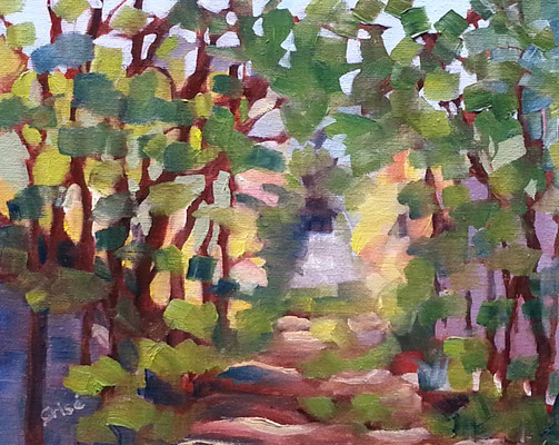 Beyond The Back Field - 10x8 oil on canvas unframed - 10x8 oil    125. + shipping    To purchase or view, please contact me.