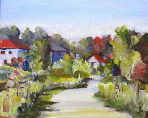 Bear Creek Pathway - Barrie    -    10x8 oil - unframed    -   125.