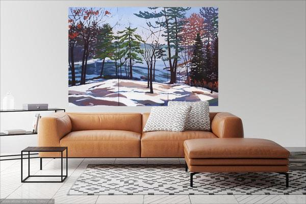 Washago Winter Melt 72x46 in room setting.