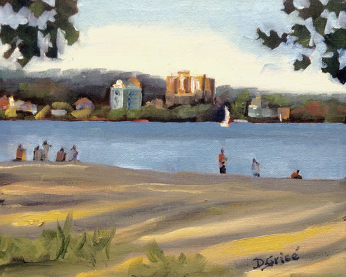 Centennial Beach, Barrie   -   10x8 oil - unframed   -      125.