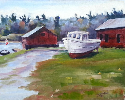 Killarney Boatyard   -   10x8 oil - unframed  -     125. + shipping    To purchase or view, please contact me.