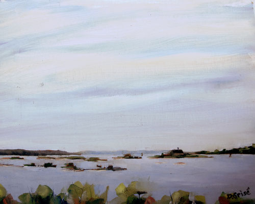 Duck Bay - Waubaushene   -   10x8 oil - unframed   -     125.