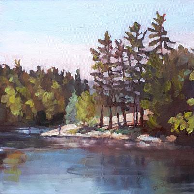 Bass Rock - Bracebridge   12x12 oil on gallery style canvas   $250. CA + shipping