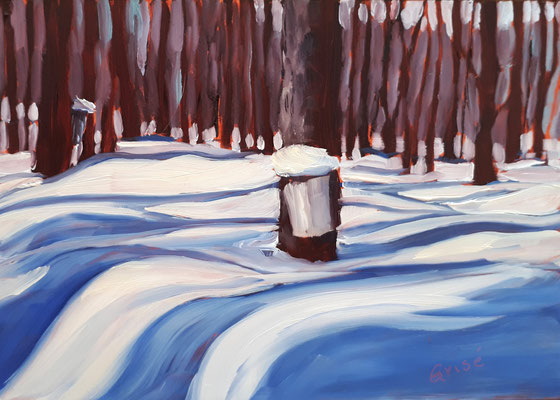 Maple Harvest 1     7x5 oil on board      55. + shipping
