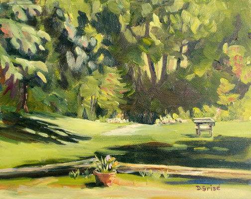Path To The River (benind Mad Cravings formerly Mad Michaels in Wyebridge)     10x8 oil - unframed       125.