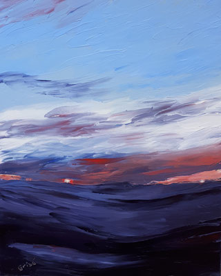 Last Light    20x16 oil on stabdard profile canvas -  includes natural wood floater frame.    480 CA             To purchase or view, please contact me.