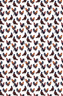 Chickens - 100% Linen