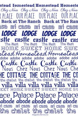 Home - Blue - 100% linen