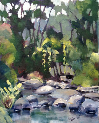 Dry Stream - Sunnidale Park, Barrie  -      10x8 oil - unframed  -  125.  + shipping    To purchase or view, please contact me.