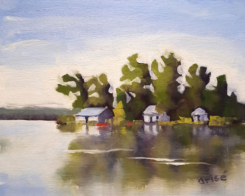 Port Severn -  10x8  oil on canvas board - unframed             125. CA + shipping