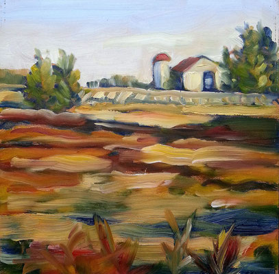 Kitchener Farm      -   8x8 oil   -      110.