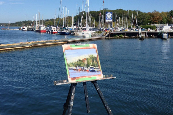 Painting at the marina.