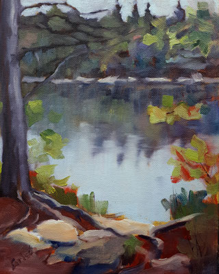 Peck Lake September          10x8  oil - unframed             Currently showing at Orillia Museum of Art & History