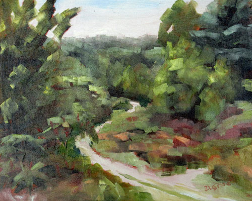 Heritage Trail - Beausoleil Island    -    8x10 oil - unframed   -    125.