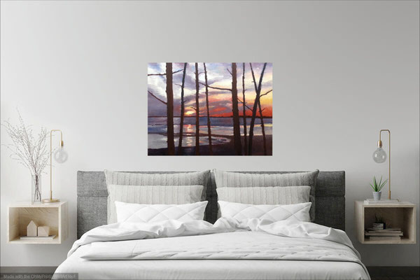 Home And Away   48x36 in room setting.