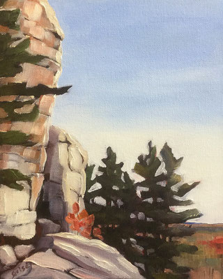 La Cloche Mountain View - Killarney         8x10 oil - unframed        125.+ shipping