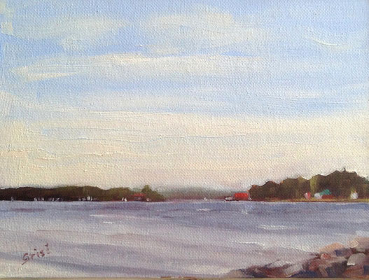 Methodist Island - 6x8 oil on canvas - unframed - 90. + shipping    To purchase or view, please contact me.