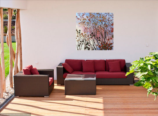 End Of October 48x48 in room setting.    To purchase or view, please contact me.