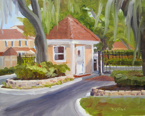 The Gatehouse - Bermuda Bay Resort, St.Petersburg, FLA -    10x8 oil - unframed   -    125.