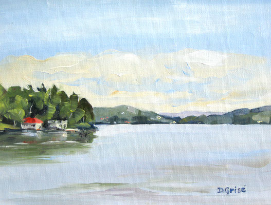 Fairy Lake from Camp Kitchen Road - Huntsville  -    10x8 oil - unframed    -   125. + shipping    To purchase or view, please contact me.